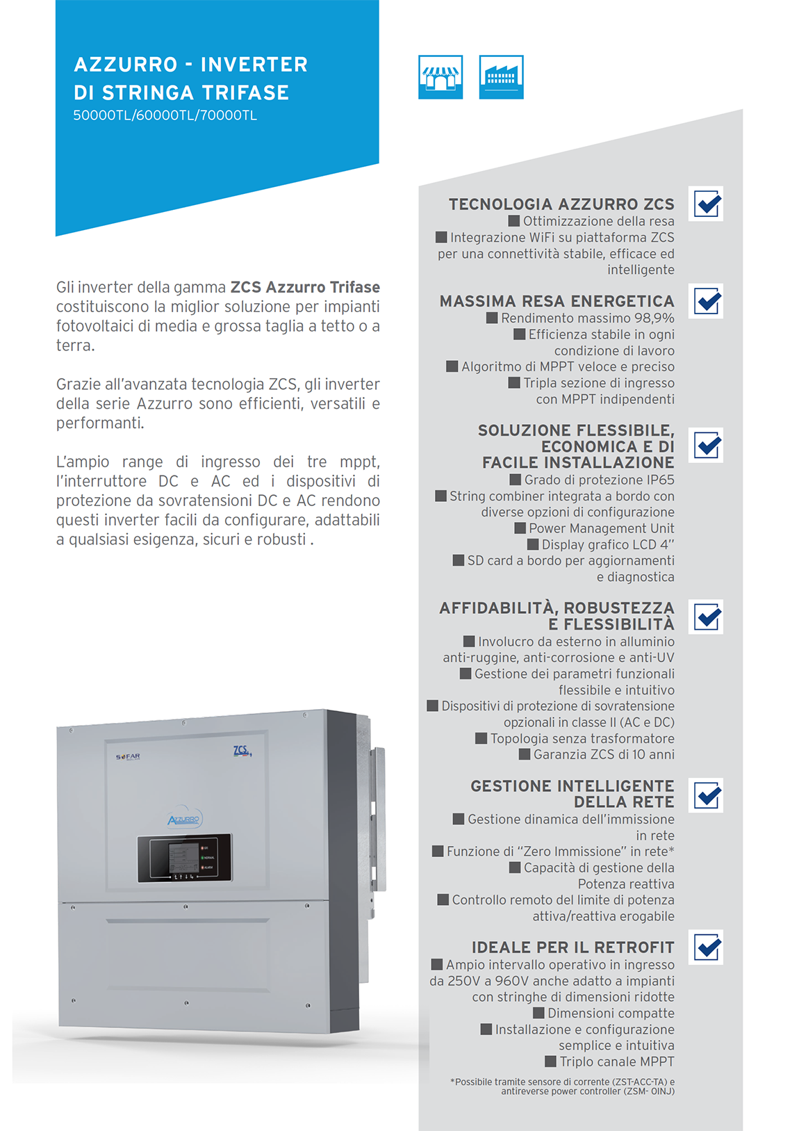 ZCS Inver trifase 50000-70000 TL - 2